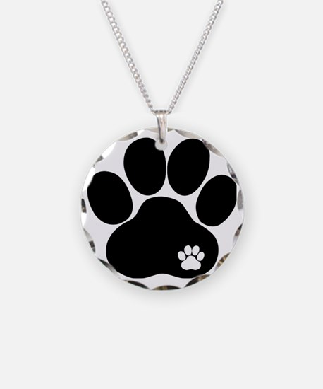 Double Paw Print Necklace