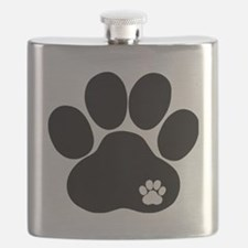 Double Paw Print Flask
