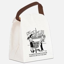 Buying Local in Kuala Lumpur Canvas Lunch Bag