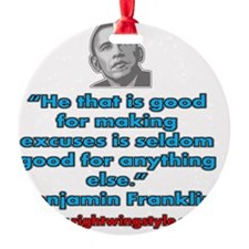 Benjamin Franklin Quote Ornament