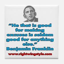 Benjamin Franklin Quote Tile Coaster