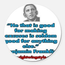 Benjamin Franklin Quote Round Car Magnet
