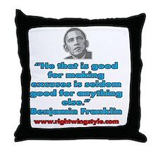 Benjamin Franklin Quote Throw Pillow