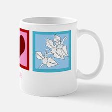 Peace Love Origami Mug