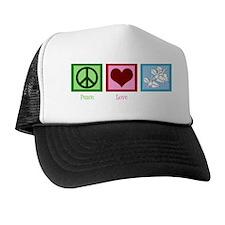 Peace Love Origami Trucker Hat