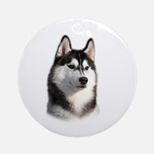 Mans Best Friend Round Ornament