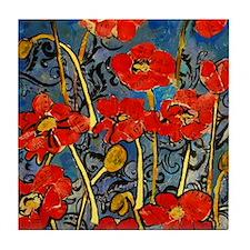Poppy Swirls Tile Coaster