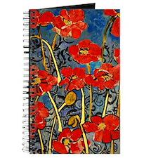 Poppy Swirls Journal