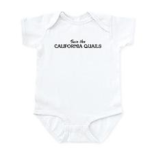 Save the CALIFORNIA QUAILS Infant Bodysuit