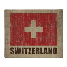Vintage Switzerland Throw Blanket