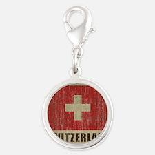 Vintage Switzerland Silver Round Charm
