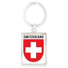 Switzerland Coat Of Arms Portrait Keychain