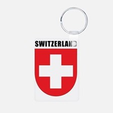 Switzerland Coat Of Arms Aluminum Photo Keychain