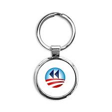 Change It Back Round Keychain