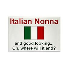 Italian Nonna-Good Lkg Rectangle Magnet