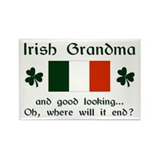 Gd Lkg Irish Grandma Rectangle Magnet