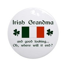 Gd Lkg Irish Grandma Ornament (Round)
