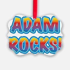 adam rocks! Ornament