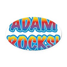 adam rocks! Oval Car Magnet