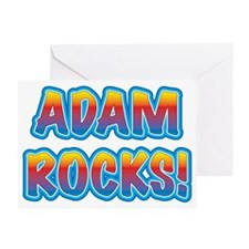 adam rocks! Greeting Card