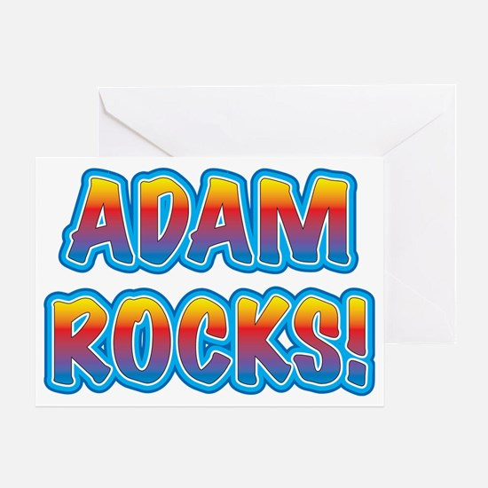 adam rocks! Greeting Card