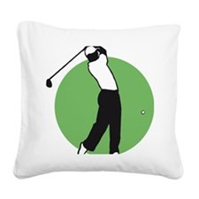 golf player Square Canvas Pillow