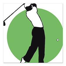 "golf player Square Car Magnet 3"" x 3"""