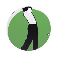 golf player Round Ornament