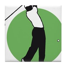 golf player Tile Coaster