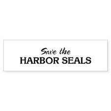 Save the HARBOR SEALS Bumper Bumper Sticker