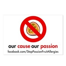 Stop Passion Fruit Allerg Postcards (Package of 8)