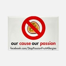Stop Passion Fruit Allergies Rectangle Magnet