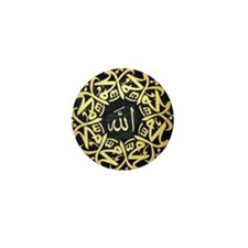 Allah Muhammad Mandala Mini Button