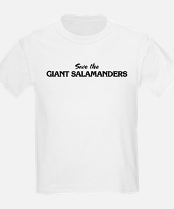Save the GIANT SALAMANDERS Kids T-Shirt