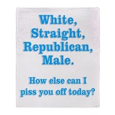 White Straight Republican Male Throw Blanket