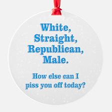 White Straight Republican Male Ornament