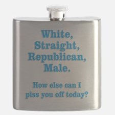 White Straight Republican Male Flask