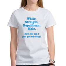 White Straight Republican Male Tee