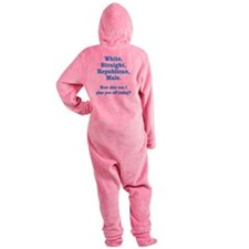 White Straight Republican Male Footed Pajamas