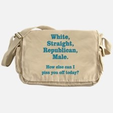 White Straight Republican Male Messenger Bag