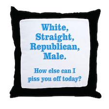 White Straight Republican Male Throw Pillow
