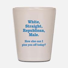 White Straight Republican Male Shot Glass