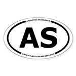 Atlantic Seascapes AS Oval Sticker
