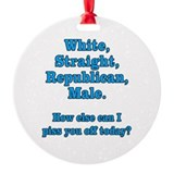 Anti obama Round Ornament