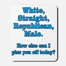 White Straight Republican Male Mousepad