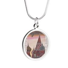 Saint Basils Cathedral Silver Round Necklace