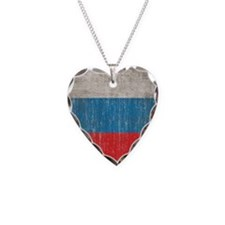 Vintage Russia Flag Necklace