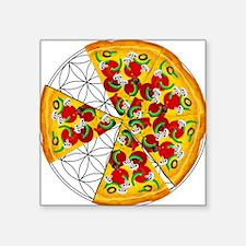 "Hofmans Pizza of Life 1 Square Sticker 3"" x 3"""