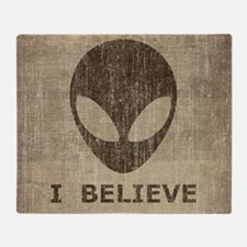 Vintage Alien Throw Blanket