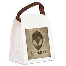 Vintage Alien Canvas Lunch Bag